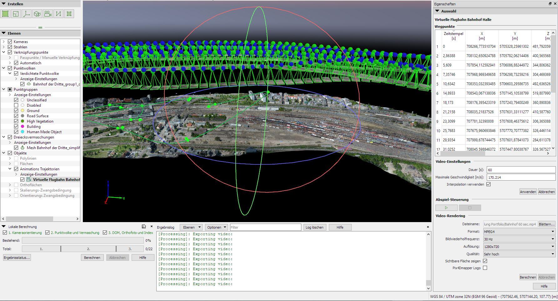 Virtuelle Flugbahn erstellen